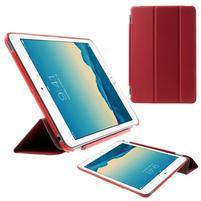 Classic troj polohové puzdro pre iPad Mini 3, ipad Mini 2 a na iPad Mini -  červené