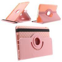 Circu otočné puzdro pre Apple iPad Mini 3, iPad Mini 2 a ipad Mini - ružové