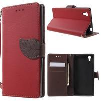 Supreme peňaženkové puzdro pre Lenovo P70 - červené/hnedé