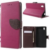 Supreme peňaženkové puzdro pre Lenovo P70 - rose/hnedé