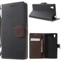 Supreme peňaženkové puzdro pre Lenovo P70 - čierné/hnedé