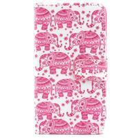 Puzdro na mobil Microsoft Lumia 640 - růžoví slony