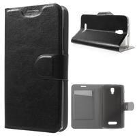 Horse peňaženkové puzdro pre Lenovo A2010 - čierné