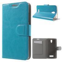 Horse peňaženkové puzdro pre Lenovo A2010 - modré