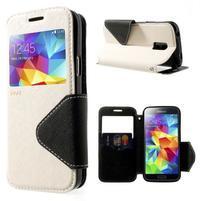 Pěněženkové pouzdro s okýnkem pro Samsung Galaxy S5 mini - bílé