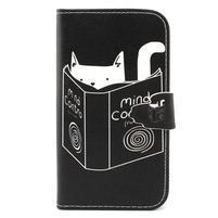 Peňaženkové puzdro pre mobil Samsung Galaxy S3 - mačička s knihou
