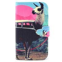Peňaženkové puzdro pre mobil Samsung Galaxy S3 - lama
