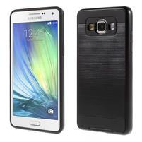 Hybridní gélové/plastové puzdro na Samsung Galaxy A5 - čierné