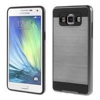 Hybridní gélové/plastové puzdro na Samsung Galaxy A5 - šedé