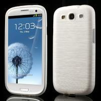 Brush gélový kryt pre Samsung Galaxy S III / Galaxy S3 - biely