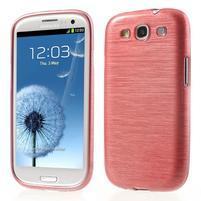 Brush gélový kryt na Samsung Galaxy S III / Galaxy S3 - růžový