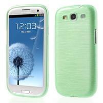 Brush gélový kryt pre Samsung Galaxy S III / Galaxy S3 - zelený