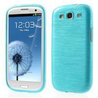 Brush gélový kryt pre Samsung Galaxy S III / Galaxy S3 - modrý