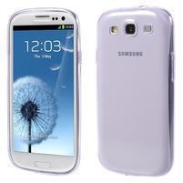Ultratenký slim 0.6 mm obal pre Samsung Galaxy S III / S3 - fialový