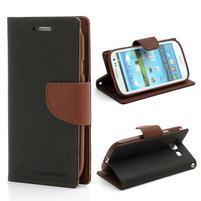 Mr. Fancy koženkové puzdro pre Samsung Galaxy S3 - čierné/hnedé