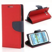 Mr. Fancy koženkové puzdro pre Samsung Galaxy S3 - červené