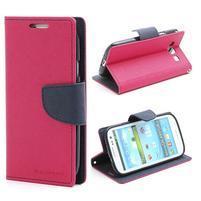 Mr. Fancy koženkové puzdro pre Samsung Galaxy S3 - rose