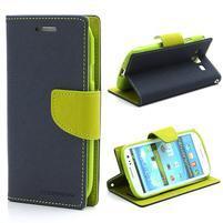 Mr. Fancy koženkové puzdro pre Samsung Galaxy S3 - tmavo modré