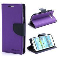 Mr. Fancy koženkové puzdro na Samsung Galaxy S3 - fialové