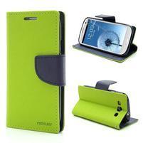 Mr. Fancy koženkové puzdro na Samsung Galaxy S3 - zelené