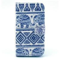 Peňaženkové puzdro na mobil Samsung Galaxy S III - sloni