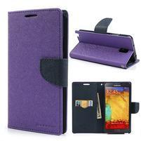 Goosp PU kožené puzdro pre Samsung Galaxy Note 3 - fialové