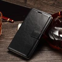 Koženkové pouzdro Sony Xperia M4 Aqua - černé