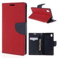 Ochranné puzdro pre Sony Xperia M4 Aqua - červené/tmavomodré