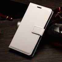 Koženkové pouzdro Sony Xperia M4 Aqua - bílé