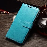 Koženkové puzdro Sony Xperia M4 Aqua - modré