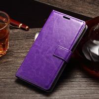 Koženkové puzdro Sony Xperia M4 Aqua - fialové