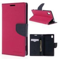 Ochranné puzdro pre Sony Xperia M4 Aqua - rose/tmavomodré