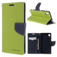 Ochranné puzdro pre Sony Xperia M4 Aqua - zelené/tmavomodré