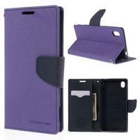 Ochranné puzdro pre Sony Xperia M4 Aqua - fialové/tmavomodré