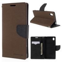 Ochranné puzdro pre Sony Xperia M4 Aqua - hnedé/čierne
