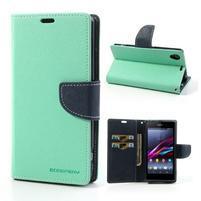 Fancy peněženkové pouzdro na mobil Sony Xperia Z1 - azurové