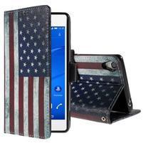 Styles puzdro pre mobil Sony Xperia Z3 - US vlajka