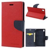 Peňaženkové puzdro pre mobil Sony Xperia Z3 - červené