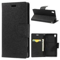 Peňaženkové puzdro pre mobil Sony Xperia Z3 - čierne