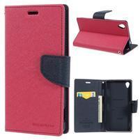 Peňaženkové puzdro pre mobil Sony Xperia Z3 - rose