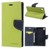Peňaženkové puzdro pre mobil Sony Xperia Z3 - zelené