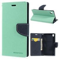 Peňaženkové puzdro pre mobil Sony Xperia Z3 - azurové