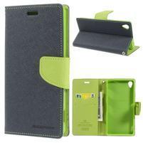Peňaženkové puzdro pre mobil Sony Xperia Z3 - tmavomodré