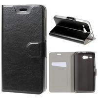 Horse peňaženkové puzdro pre Acer Liquid Z520 - čierné