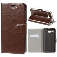 Horse peňaženkové puzdro pre Acer Liquid Z520 - hnedé