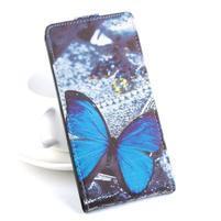 Flipové pouzdro na mobil Acer Liquid Z520 - modrý motýl