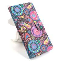 Lux peňaženkové puzdro pre mobil Acer Liquid Z520 - farebné kruhy