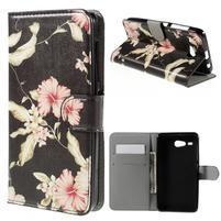 Nice koženkové pouzdro na mobil Acer Liquid Z520 - krásné květiny