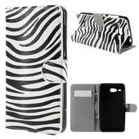 Nice koženkové pouzdro na mobil Acer Liquid Z520 - zebra