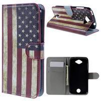 Valet peňaženkové puzdro pre Acer Liquid Z530 - US vlajka